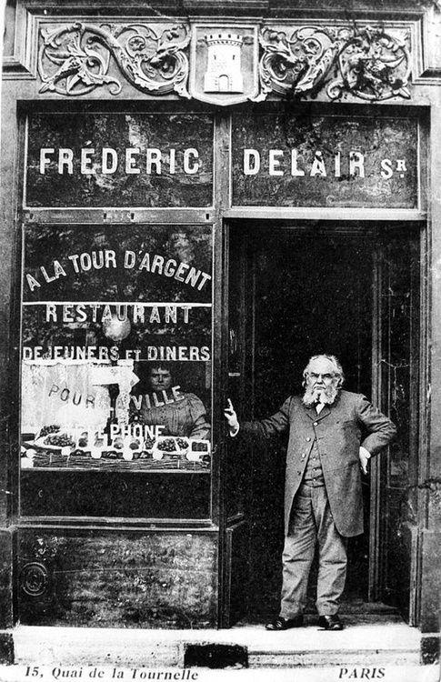 La Tour d'Argent, a historic restaurant on the quai de la Tournelle, Paris, 1890s.