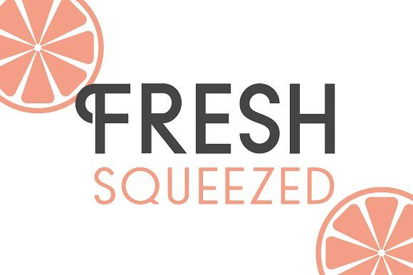 Fresh Squeezed Font Duo by Josh O. on @creativemarket
