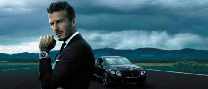 David Beckham, embajador de Breitling es el rostro de la marca relojera suiza y el protagonista de la campaña publicitaria.
