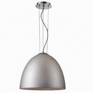 Lampa wisząca kopuła srebrna Tobi nowoczesna pojedyncza