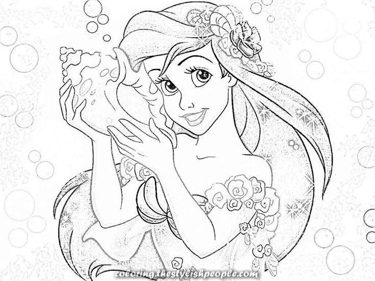 Beautiful Disney Princess Coloring Pages Ariel Coloring Residence Mermaid Coloring Pages Disney Princess Coloring Pages Disney Coloring Pages