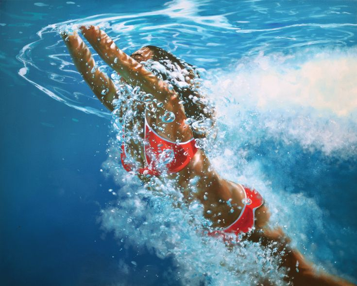 """Gallery Henoch - Eric Zener - Surfacing Back - Oil on Canvas - 48"""" x 60"""" - Solo Show """"Escape"""" September 8 - October 1, 2016"""