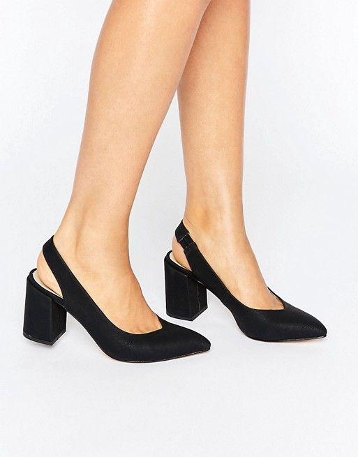 Love a low heel and closed toe -- although these don't look that low!
