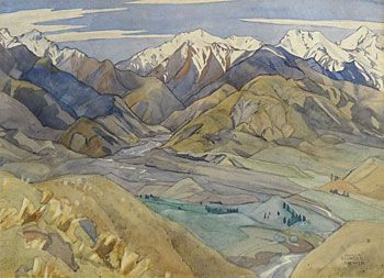 Olivia Spencer Bower 1905 - 1982 - Kaikoura Country $8,000