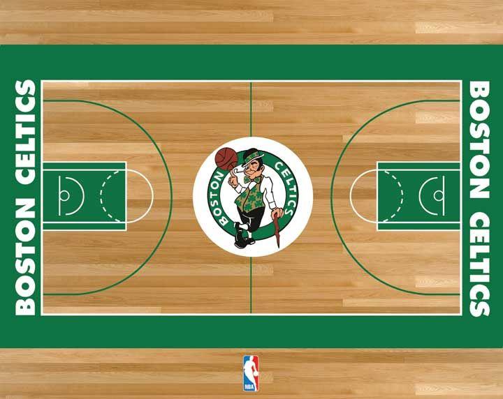 Boston Celtics Basketball Court Celtic Boston Celtics