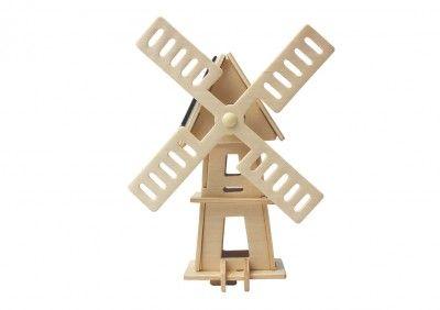 RoboTime - Drevená stavebnica - Solárny veterný mlyn II