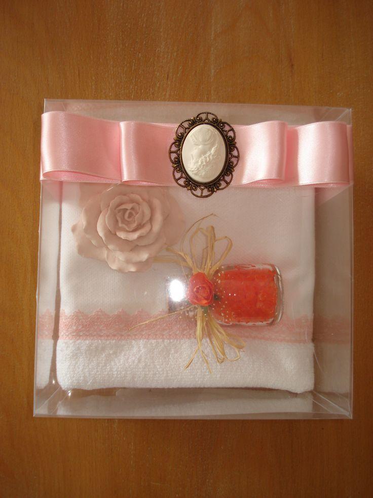 kokulu taş ve banyo tuzu havlu konsept - handmade