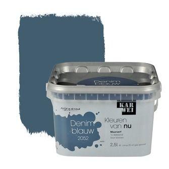 KARWEI Kleuren van Nu muurverf mat denimblauw 2, alles voor je klus om je huis & tuin te verfraaien vind je bij KARWEI