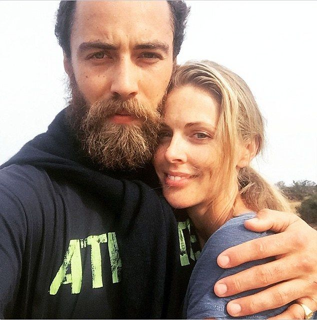 Lovebeards: Donna Air shared this snap of her and boyfriend James Middleton, to which a f...