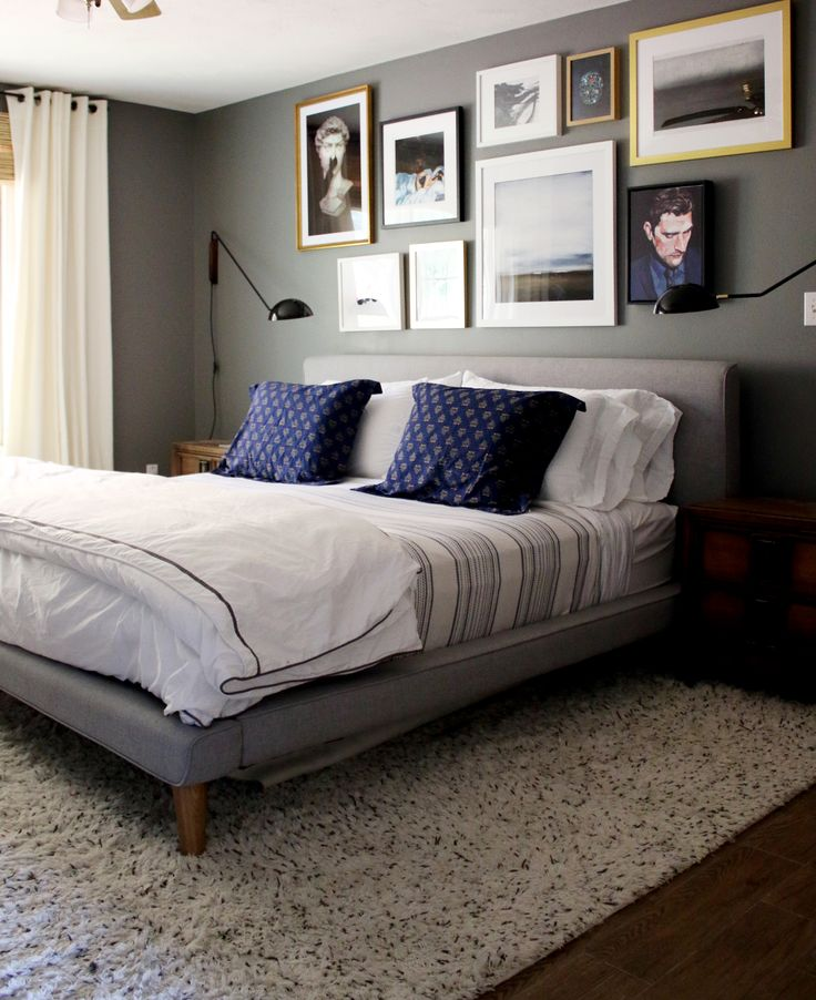 A Gallery Wall in the Master Bedroom + Tips on Creating Your Own! | Chris Loves Julia