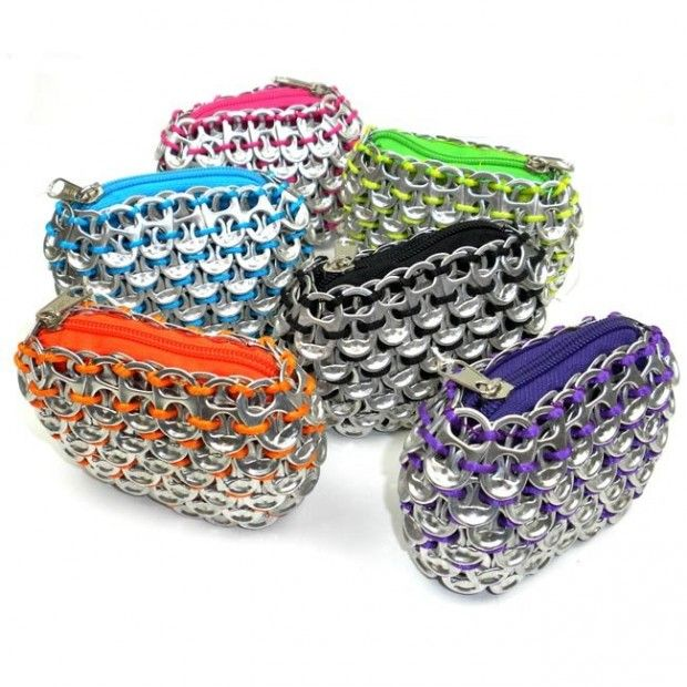 Recycled Pop Tab Coin Purses! via Esther Page at http://www.pinterest.com/pin/293156256967737387/
