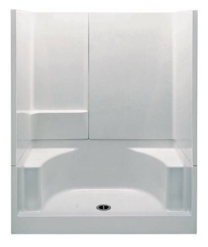 fiberglass shower stalls with seat one piece stall bathroom fixtures built in seats