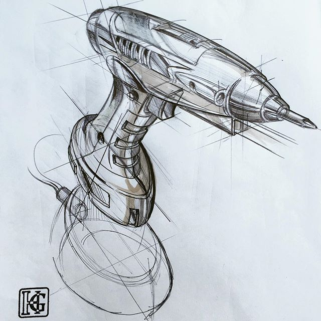 In this series I'll be drawing the same screwdriver with different materials to illustrate various approaches. This one is sketched with ballpoint pen and marker is added so suggest form #idsketching #ID #industrialdesign #productdesign #sketching #sketch #sketchaday #sketchbook #diseñoindustrial #designsketching #screwdriver #marker #pen#illustration #çizim