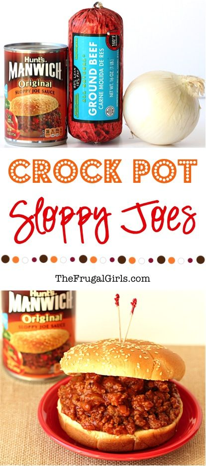 Slow Cooker Sloppy Joes Recipe from TheFrugalGirls.com - MUCH better than just manwich quickly whipped up on the stovetop!