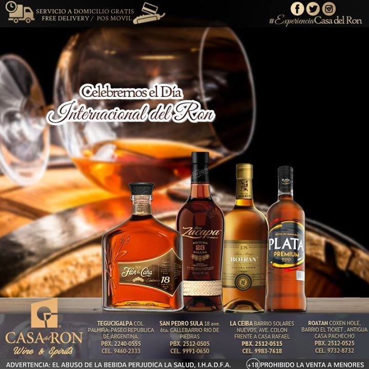 Esta semana lo celebramos a lo grande encuentra la mejor variedad de rones de calidad premium y de las mejores marcas en todas nuestras tiendas a nivel nacional te esperamos con super promociones .............................................................................. Ron Flor de Caña centenario 12 legacy edition a L.580 Ron Flor de Caña centenario 18 legacy edition a L.845 Ron Flor de Caña litro a precio de botella a solo L.253 Ron Zacapa Edición Negra a solo L.960.50 Zacapa Litro a…