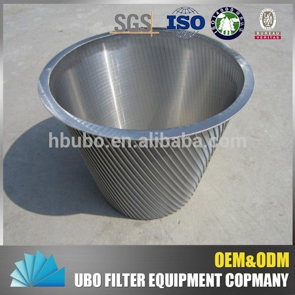 Source SS 304 316 wedge wire screen baskets for centrifugal liners on m.alibaba.com