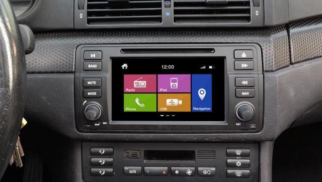 Штатная магнитола для установки в штатное место в  BMW 3 серии Е46. Купить и установить в интернет магазине КомБез-Авто.