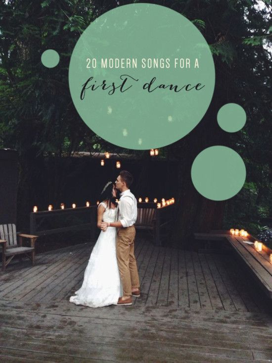 These modern first dance songs will be a must play for your wedding! #modernweddingsongs #firstdancesongs #weddingmusic
