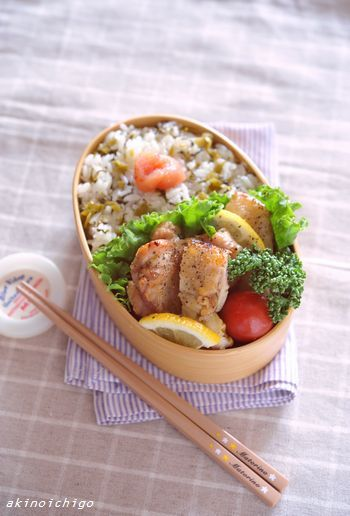 ママ弁「高菜明太ごはんのお弁当」