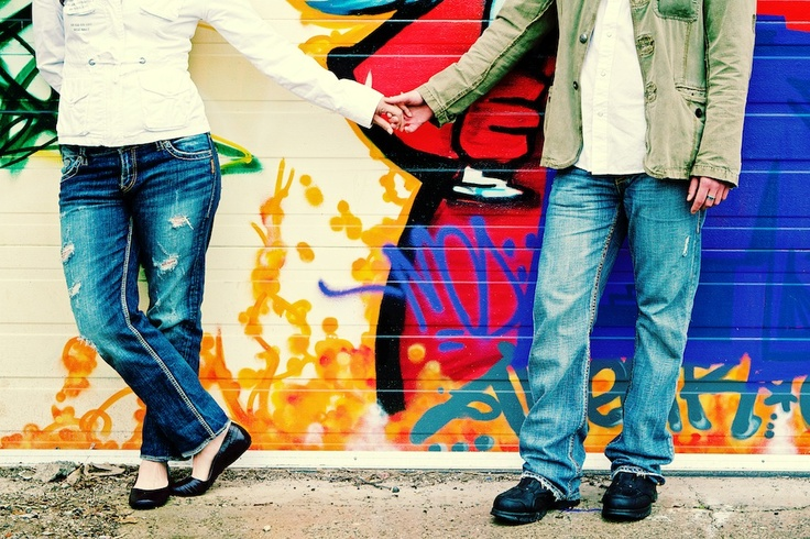 Toronto Photo Shoot Location - The graffiti walls in Bloor West Village make for a very fun backdrop for photos!