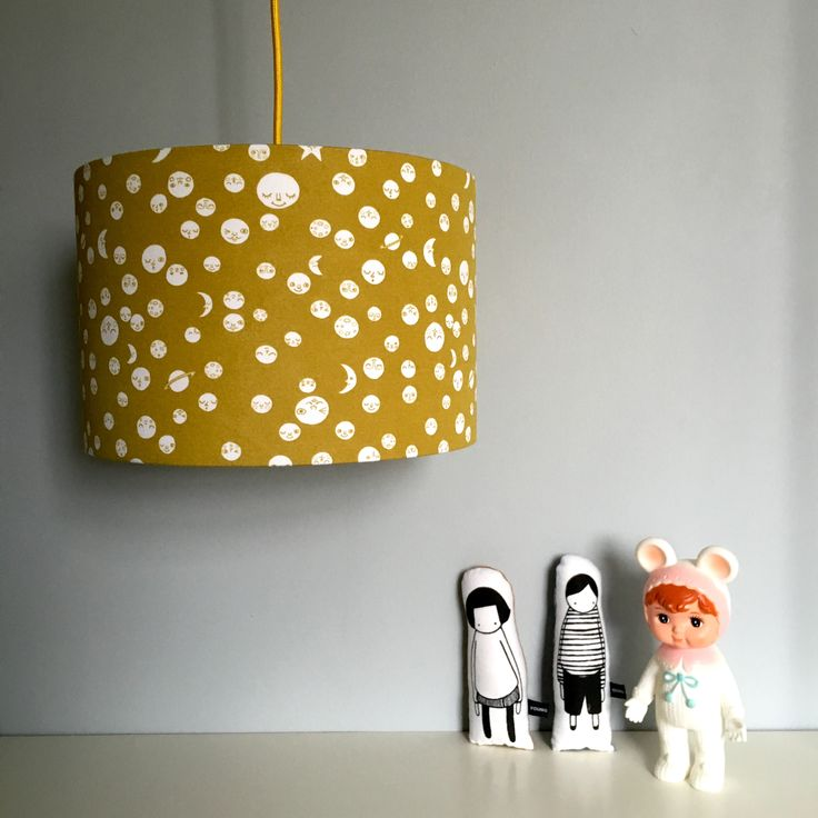 Polka Moons Lampshade in Damp Sand in collaboration with The Bright Company