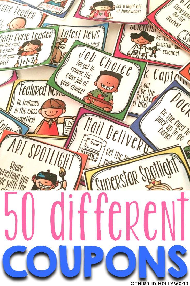 50 Different Reward Coupons!!