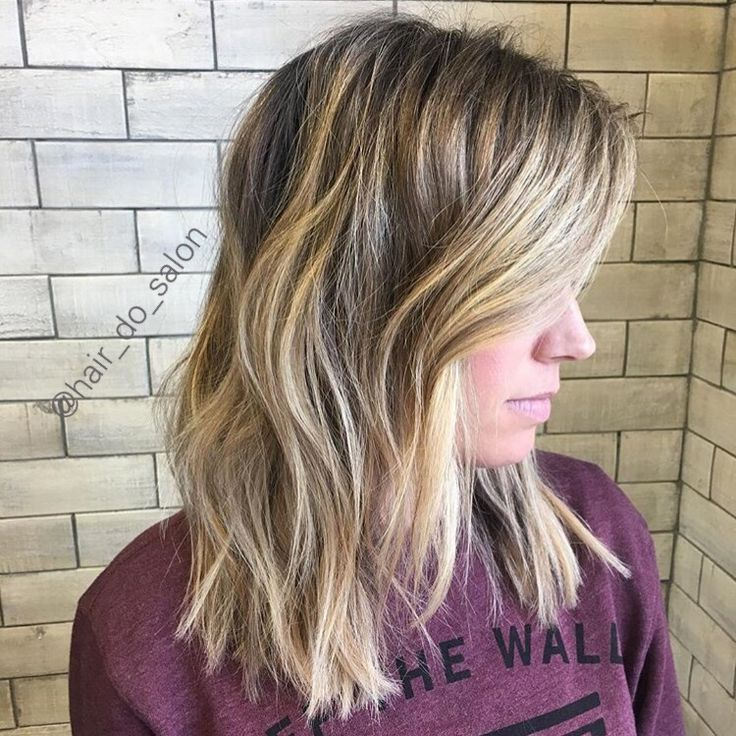 Low Maintenance Blonde Natural Looking Highlights On Mid