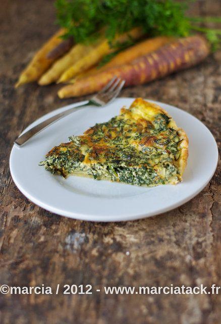 Quiche aux fanes de carottes et fourme d'ambert - Recette - Marciatack.fr : recettes faciles | Tout pour cuisiner !
