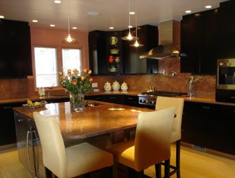 Kitchen Cabinets Painted Black