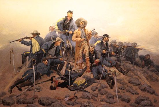 custer painting   Frederic Remington's Painting of Custer's Last Stand, at Woolaroc in ...