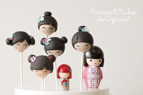 tartas y nubes de azúcar: Kokeshi Cakepops