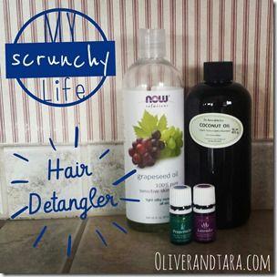 Hair Detangler recipe using essential oils by doTerra or Young Living!   found on oliverandtara.com