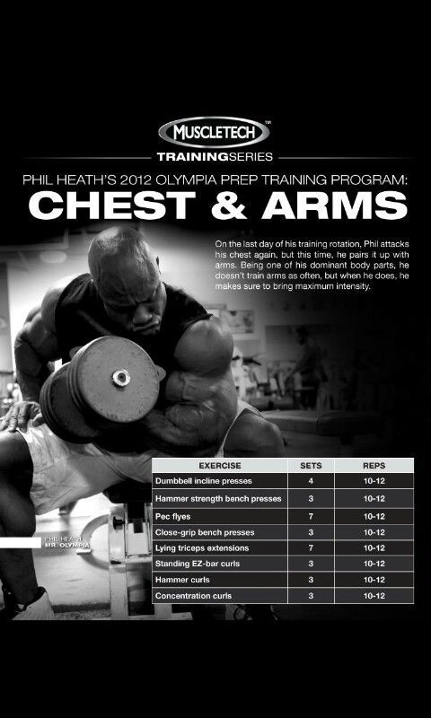 Phil Heath 2012 Olympia prep Traning (Chest & Arms) Day #7