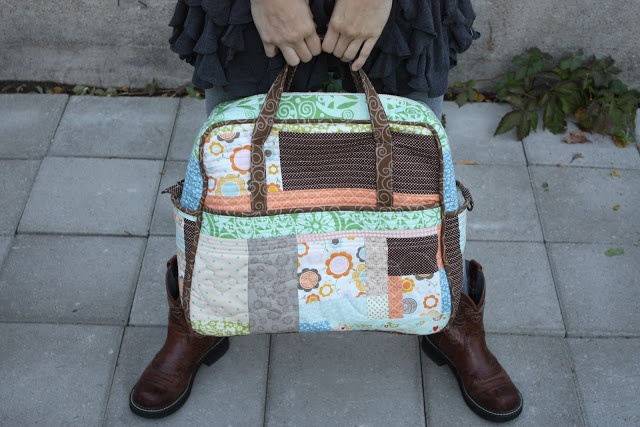 Amy Butler Weekender Bag by my ever so talented cousin, Michelle of With All My Heart. Love, love love