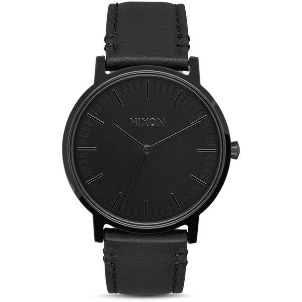 Nixon Porter Watch, 40mm ($125) ❤ liked on Polyvore featuring jewelry, watches, black, nixon jewelry, nixon wrist watch and nixon watches