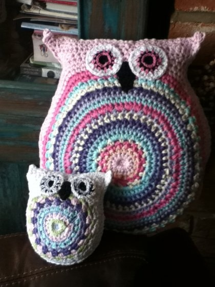 Free Crochet Owl Cushion Pillow Pattern : big crochet owl cushion #owl #thecraftstar #handmade ...