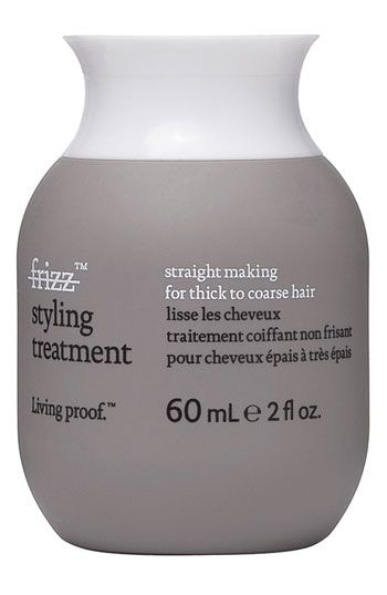 living proof no frizz straight making styling treatment for thick to coarse hair, $15