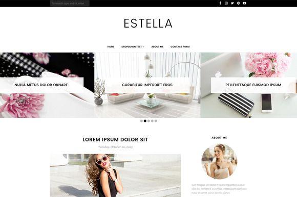 Blogger Template - Estella  @creativework247