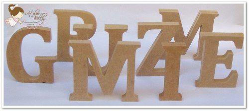 Letras Em Mdf Cru - 12cm De Altura E 2cm Espessura - R$ 6,99 no MercadoLivre