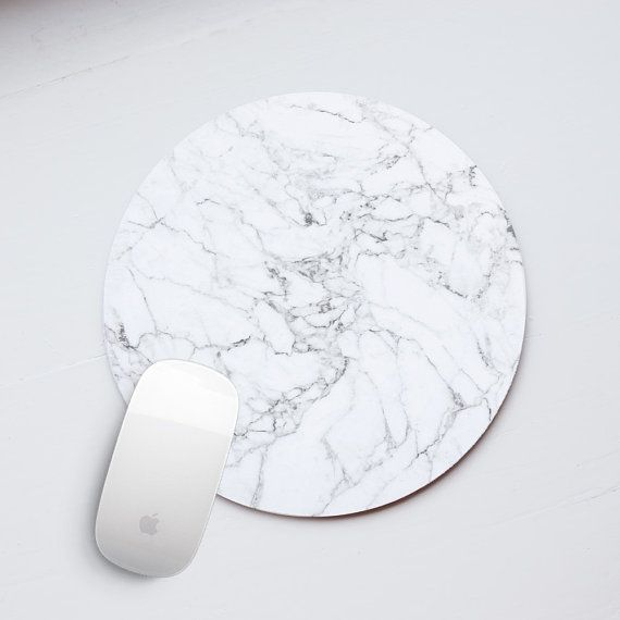 marble mouse pad - chic office accessories