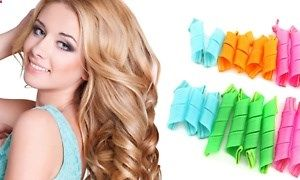 Hair Curler - Set with 18 curlers and curling sticks creates curls in 10-20 minutes without heat; ideal for all hair types and lengths