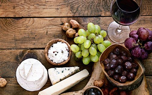 Cheese and wine go hand in hand