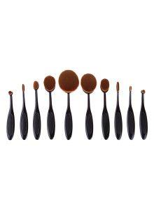 Black Oval Makeup Brush Set 10PCS $21.99