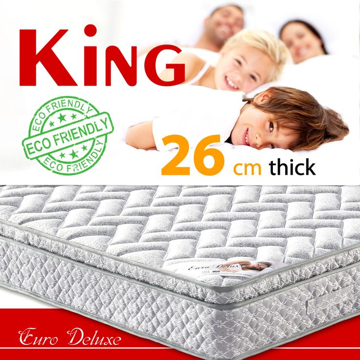 Choose the comfortable euro top $219.99 bonnell spring King  size mattress from euro deluxe line  https://www.ozehome.com.au/euro-deluxe-mattress-mb136-king-size