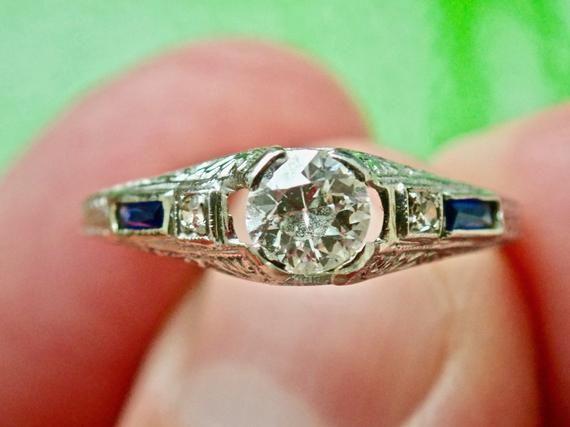 Extremely Elegant Art Deco Diamond Ring Below Appraised Value Art Deco Diamond Rings Art Deco Diamond Art Deco Jewelry