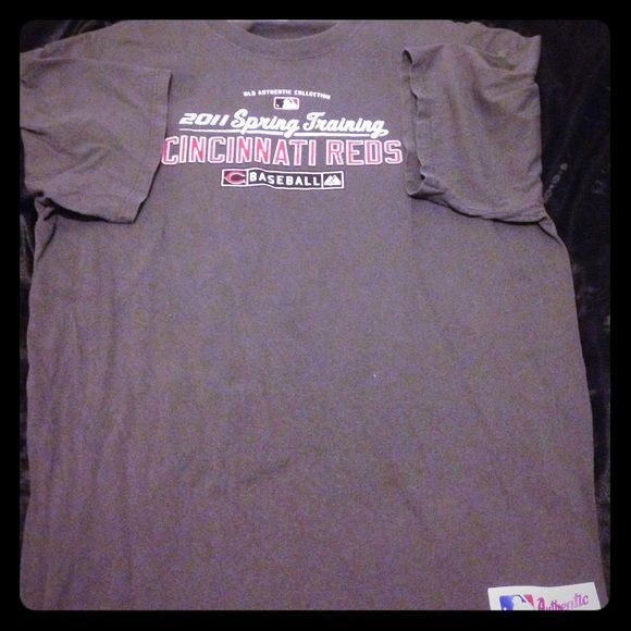 Cincinnati Reds spring training tee shirt MLB Authentic Collection 2011 baseball spring training back of shirt is plain. Writing isn't even cracked Tops Tees - Short Sleeve