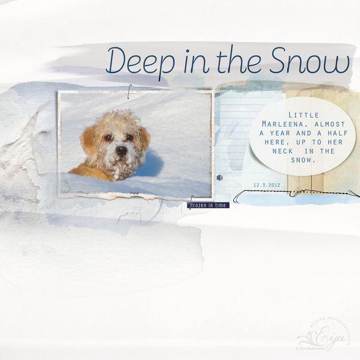 Deep in the Snow by Eijaite.deviantart.com on @DeviantArt