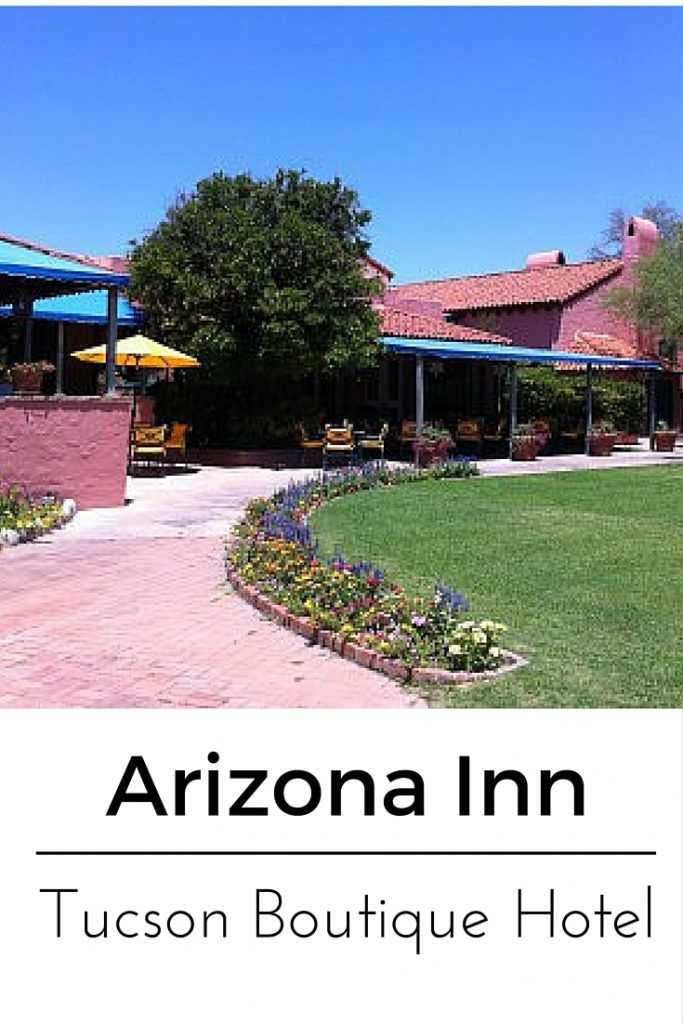 Arizona Inn resort in Tucson, Arizona review with photos for a quiet getaway boutique resort experience.
