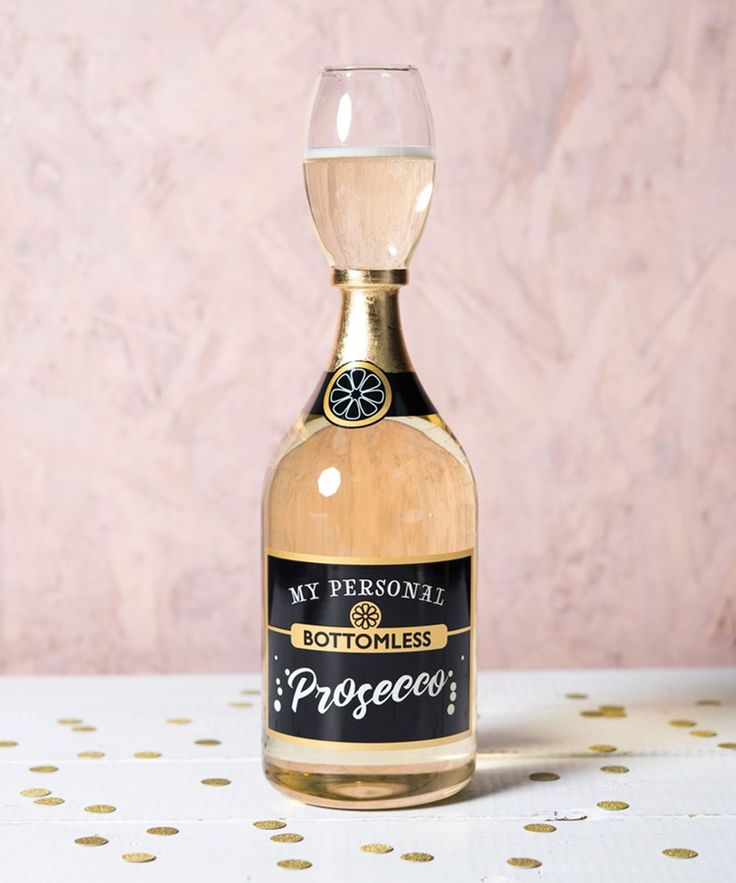 This Bottomless Prosecco Glass Holds An Entire Bottle Of Bubbly #refinery29 http://www.refinery29.com/2017/11/182763/bottomless-prosecco-glass-getting-personal#slide-1