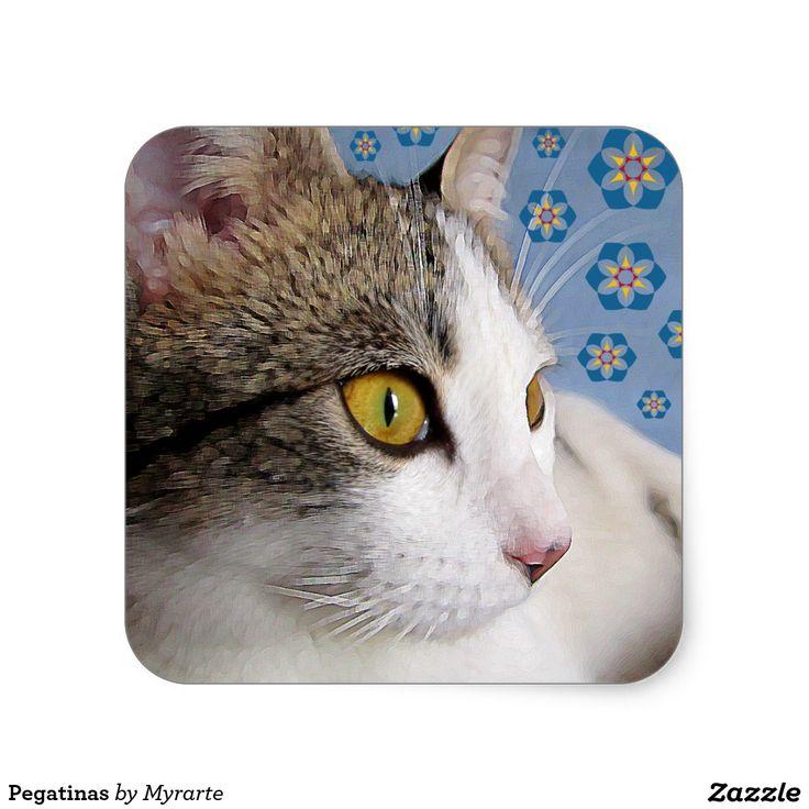 Sticker. Producto disponible en tienda Zazzle. Product available in Zazzle store. Regalos, Gifts. Link to product: http://www.zazzle.com/stickers-217298698963672206?CMPN=shareicon&lang=en&social=true&rf=238167879144476949 #sticker #cat #gato #kitten